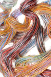 Multicolored computer cables Royalty Free Stock Images