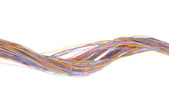 Multicolored computer cables Stock Photo
