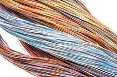 Multicolored computer cables Royalty Free Stock Image