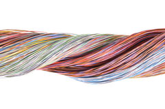 Multicolored computer cables Royalty Free Stock Photos