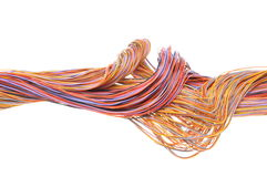 Multicolored computer network cable Royalty Free Stock Image