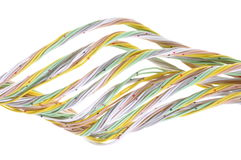 Multicolored computer network cable Royalty Free Stock Photos