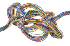 Multicolored computer network cable Royalty Free Stock Photography