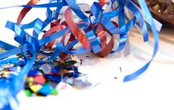 Multicolored confetti royalty free stock photography