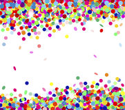 Multicolored confetti Stock Images