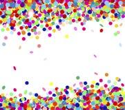 Multicolored confetti. Banner festive multicolored confetti falling Stock Images