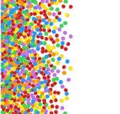 Multicolored confetti. Festive Decorative Element for greeting cards, banners. Multicolored confetti. Vector festive illustration of a falling confetti glitters Stock Photography