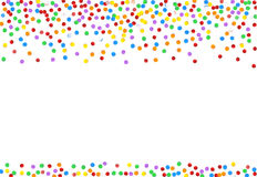Multicolored confetti.Festive Decorative Element for greeting cards, banners. Stock Photo
