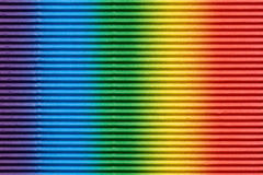Multicolored corrugated cardboard Royalty Free Stock Images