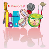 Multicolored Cosmetics Stock Images