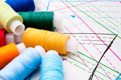 Multicolored cotton rolls Stock Image