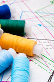 Multicolored cotton rolls Royalty Free Stock Photo