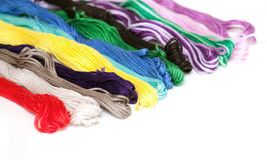 Multicolored cotton threads Royalty Free Stock Photography