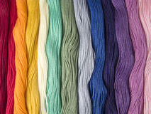 Multicolored cotton threads Royalty Free Stock Photos