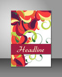 Multicolored cover design. For flyer, book or magazine Stock Photos