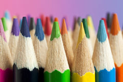 Multicolored Crayon Tips Royalty Free Stock Photo