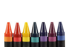 Multicolored crayons Royalty Free Stock Photos