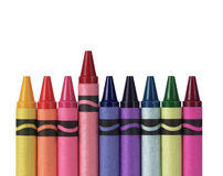 Multicolored Crayons Royalty Free Stock Images