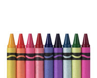 Multicolored Crayons Stock Photo
