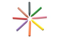 Multicolored crayons. Royalty Free Stock Photos