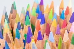 Multicolored crayons closeup. Stock Photo