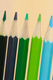 Multicolored crayons composition Royalty Free Stock Image