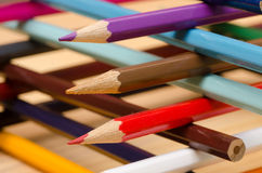 Multicolored crayons composition Royalty Free Stock Photo