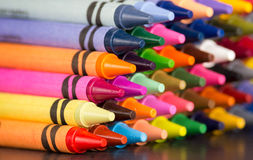 Multicolored crayons pyramid Royalty Free Stock Image
