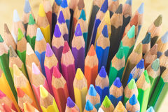 Multicolored crayons ready for use Royalty Free Stock Images