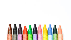 Multicolored crayons stock image