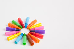 Multicolored crayons Royalty Free Stock Photography