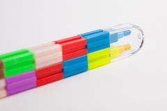 Multicolored crayons Stock Photography