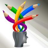 Multicolored Creative Pencils Concept Stock Photos