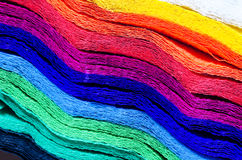 Multicolored  crepe paper texture background Stock Image