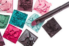 Multicolored crushed eyeshadows Royalty Free Stock Image