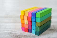 Multicolored cube Royalty Free Stock Image