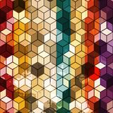 Multicolored cube seamless. (eps 10 stock illustration