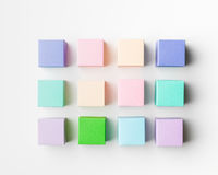 Multicolored cubes background Royalty Free Stock Photo