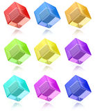 Multicolored cubes set Royalty Free Stock Photos