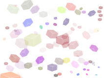 Multicolored cubes. On white background Stock Illustration
