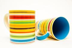 Multicolored cups Stock Image