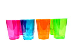 Multicolored Cups Royalty Free Stock Photo