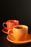 Multicolored cups of coffee Royalty Free Stock Photos