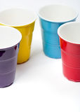 Multicolored cups Royalty Free Stock Image