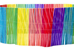 Multicolored curling grass curtain Royalty Free Stock Photo