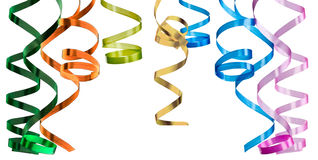 Multicolored curling paper streamer Stock Photography