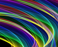 Multicolored curves. Variety of multicolored curves - hq computer generated image Royalty Free Stock Image