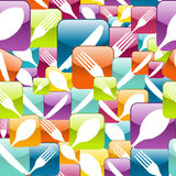 Restaurant Icon seamless pattern Royalty Free Stock Image