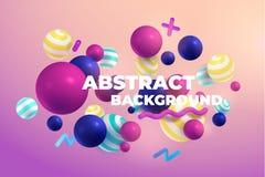 Multicolored 3d balls. Abstract vector illustration. Modern desing esp 10 vector illustration