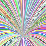 Multicolored 3d hole background - vector design from curves Stock Images